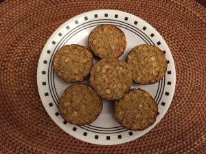 Banana-Maple-Oat Muffins