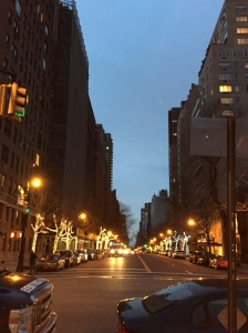 The lights on East End Avenue