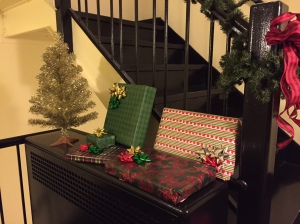 Gifts hidden in a staircase