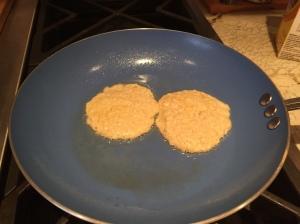 Cinnacakes cooking (pre-flip!)