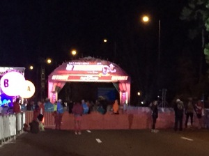 The starting line around 4:45am