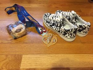 I've got an extra Minnie's Bakery Rice Krispies Treat, a shiny medal, and a pair of Mickey kicks to keep me going until the next race!