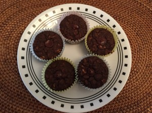 Cocoa-Chocolate-Chip Cuppins