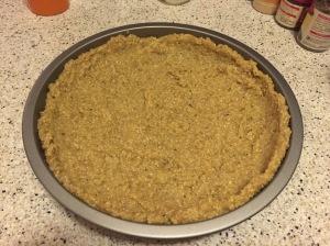 Quinoa crust before baking