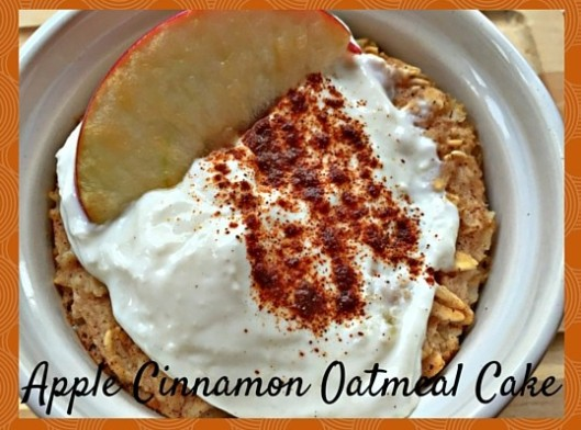 A gluten free apple cinnamon baked oatmeal cake, perfect to make and put in the oven to be ready when you are to start your day.