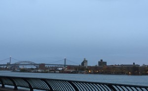 Clouds and rain outdoors > in a gym on the dreadmill