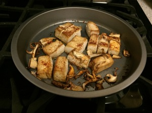 Baked Garlic & Thyme Tofu with Mushrooms