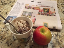'Twas the night before the test...which found me curling up with a sweet snack and the Museums section of the NY Times