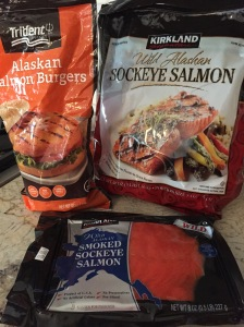 So much salmon - wild sockeye to grill or steam, smoked for scrambles, and burgers