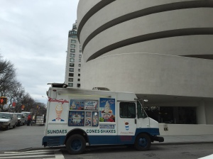 The ice cream man has arrived outside the Guggenheim