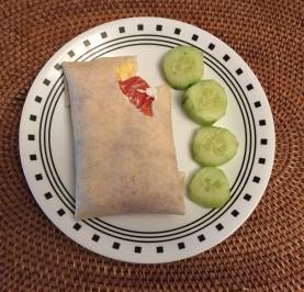 A smoked salmon scramble wrap