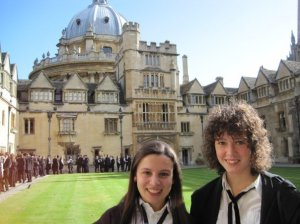 Matriculation at Oxford with my dear friend Elli