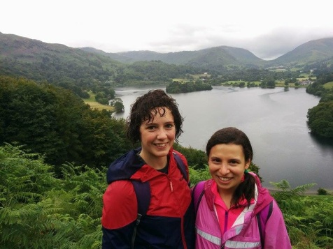 Hiking in the Lake District with my friend Elli