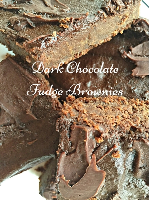 A delicious, dense dark chocolate fudge brownie recipe, gluten free and perfect for the chocolate lover in your life.