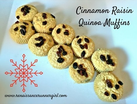 These Cinnamon Raisin Quinoa Muffins are grain free, dairy free, and the perfect winter sweet treat.